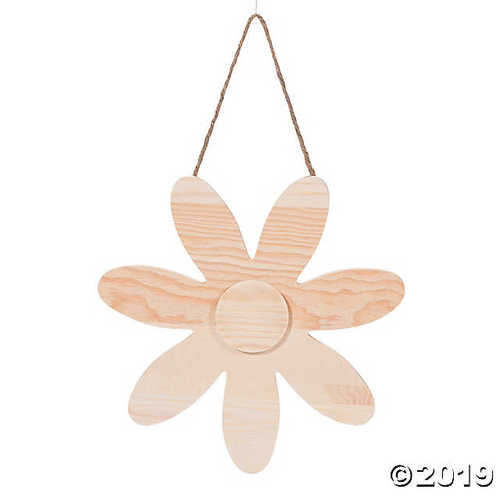 DIY Unfinished Wood Flower Sign