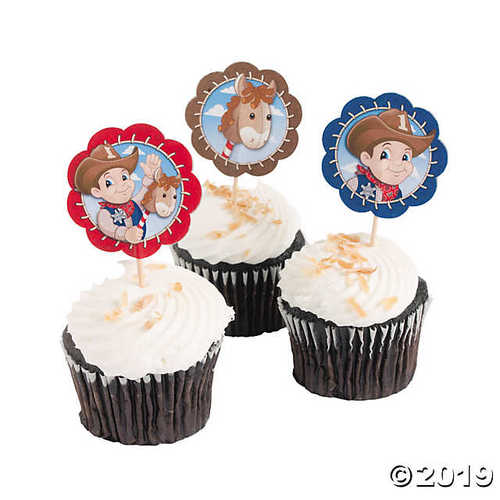 Lil' Cowboy Western Cupcake and Food Picks