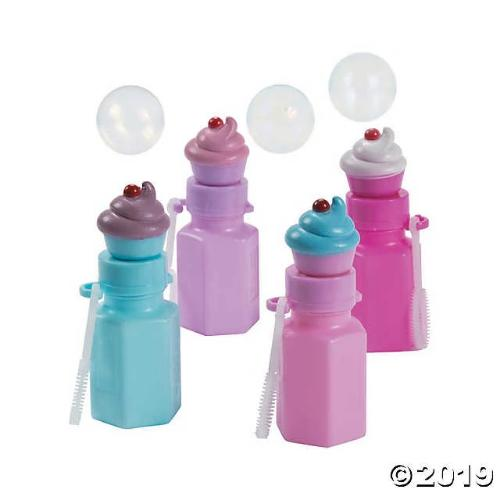 Cupcake Bubble Bottles