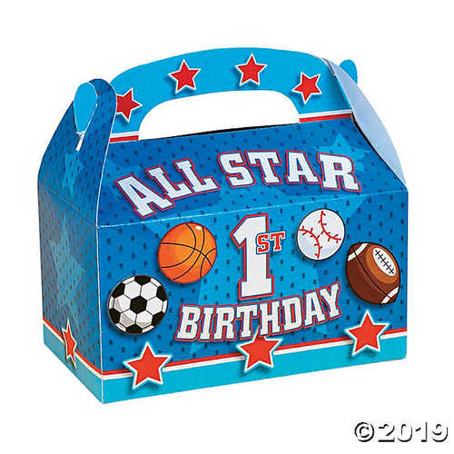 """All Star 1st Birthday"" Favor Boxes"