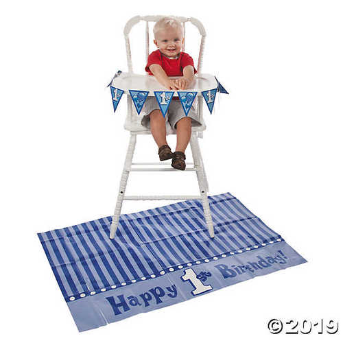 Blue 1st Birthday High Chair Decorating Kit