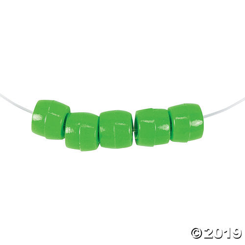 1/2 Lb. of Green Pony Beads