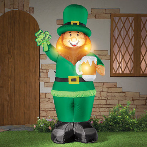 Inflatable St. Patrick's Day Leprechaun - 4FT High