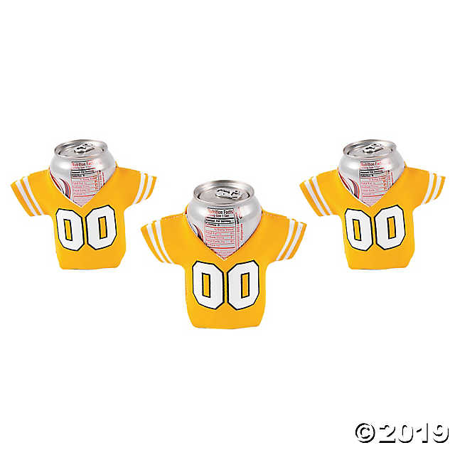 Yellow Jersey Shaped Can Coolers