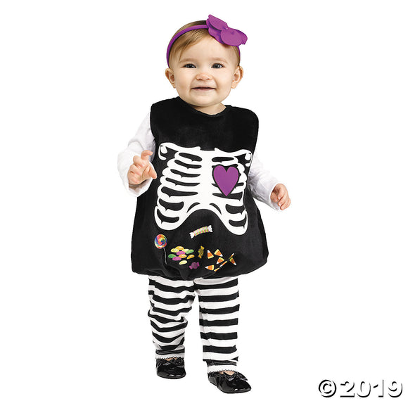 Baby Girl's Skelly Belly Costume - Up to 24 Months