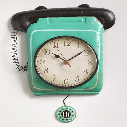 Retro Metal Pendulum Wall Clocks