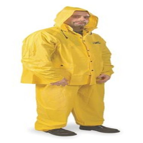3 Piece Rainsuit w/Detach Hood, Yellow, 4XL