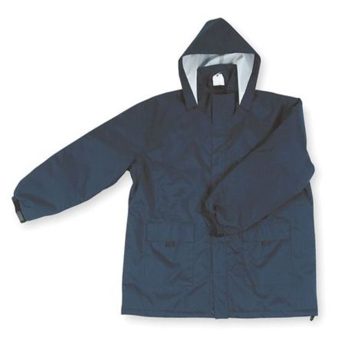 Rain Jacket with Hood, Navy, 3XL