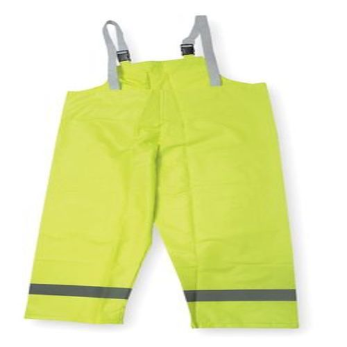 Hi-Vis Rain Bib Overall, Yellow/Green, 2XL