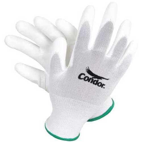 Coated Gloves, 2XL, White, PR