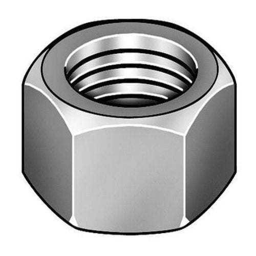 "3/8""-16 Plain Finish 316 Stainless Steel Hex Nut"