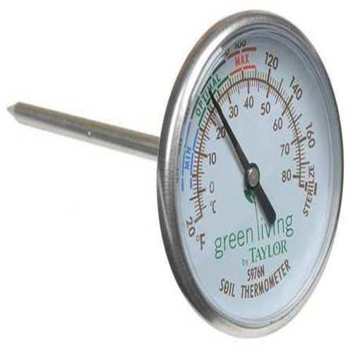 Bimetal Thermom, 2 In Dial, 20 to 180F