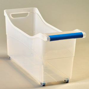 Space-Saving Rolling Storage Bins-Blue