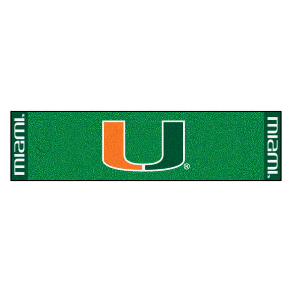 University of Miami Putting Green Mat 18