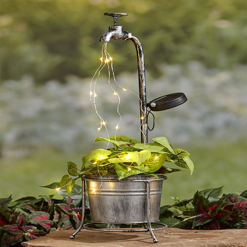 Solar Faucet Water Light Collection-Single Planter