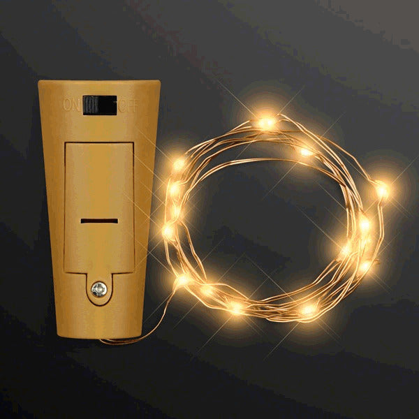 LED Wire Battery Powered Bottle Cork Amber Lights