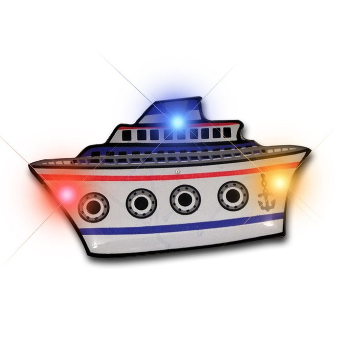 Cruise Ship Flashing Body Light Lapel Pins