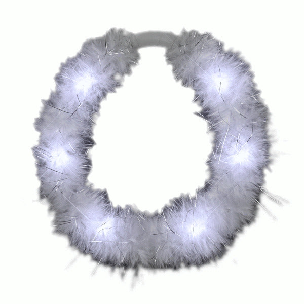 LED White Feather Angel Halo Crown Headband