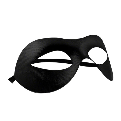 Non-Light Up Classic Matte Black Mask With Elastic Band