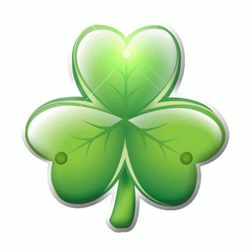 Luck Of The Irish Shamrock Flashing Body Light Lapel Pins