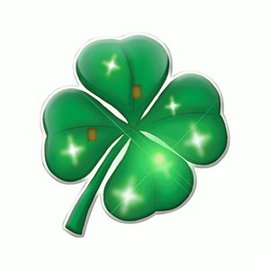 Four Leaf Clover Flashing Body Light Lapel Pins