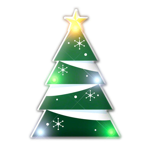 Holiday Flashing Christmas Tree Lapel Pin Body Light