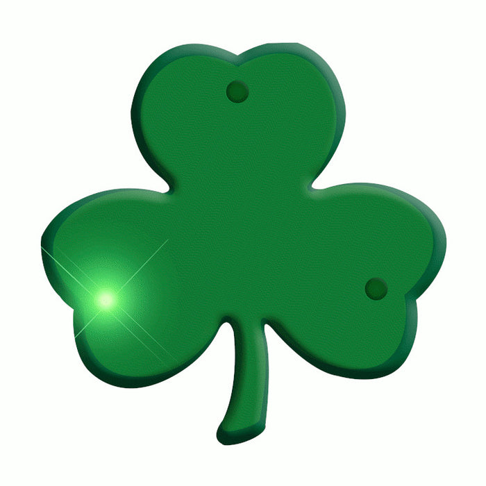 Jade Shamrock Flashing Body Light Lapel Pins