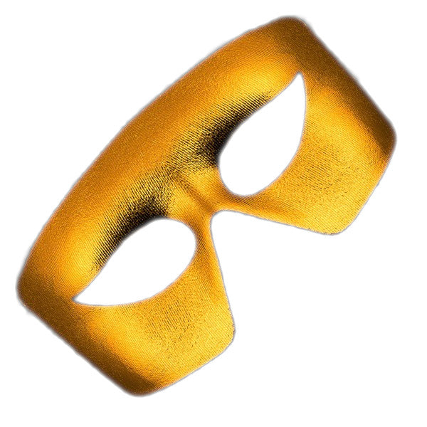 Masquerade Gold Non-Light Up Metallic Mask Mardi Gras