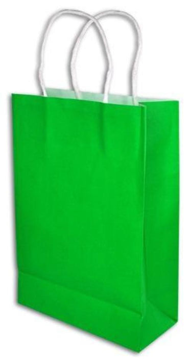 GREEN GIFT BAGS (ONE DOZEN)