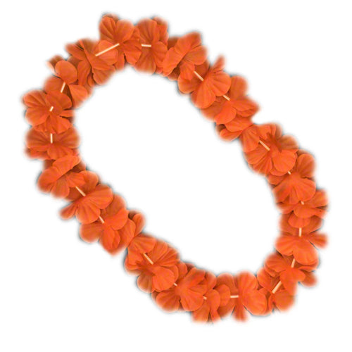 Hawaiian Flower Lei Necklace Orange