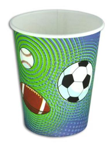 SPORTY PARTY CUPS (ONE DOZEN)