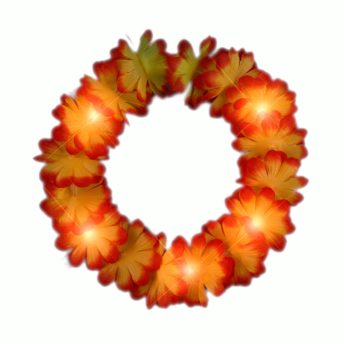 Light Up Flashing Fall Autumn Flower Crown Headband