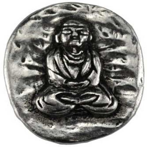 Party Games Accessories Halloween Séance Pewter Pocket Worry Stone Buddha of Peace Prayer