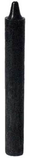 "Black 6"" taper candle"
