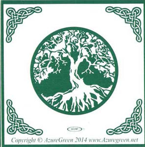 Bumper Sticker Earth's Life Force Green Tree of Life