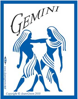 Novelty Amusement Toys Bumper Stickers Power of the Zodiac Gemini
