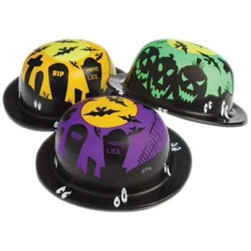 12 pc Bulk HALLOWEEN Party Favors Plastic derby HATS