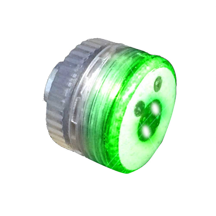 Green Steady Round Blinky Light With Magnet Clasp