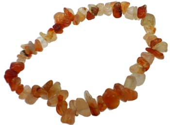 Womens Jewelry Bracelet Carnelian Gemstone Chips Boost Confidence and Power of True Expression