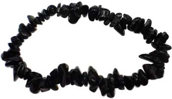 Womens Jewelry Bracelet Black Obsidian Gemstone Chips Clean Your Psychic Smog Create Strong Aura