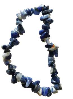 Womens Jewelry Bracelet Blue Sodalite Gemstone Chips Discover Your Life Purpose Find Direction