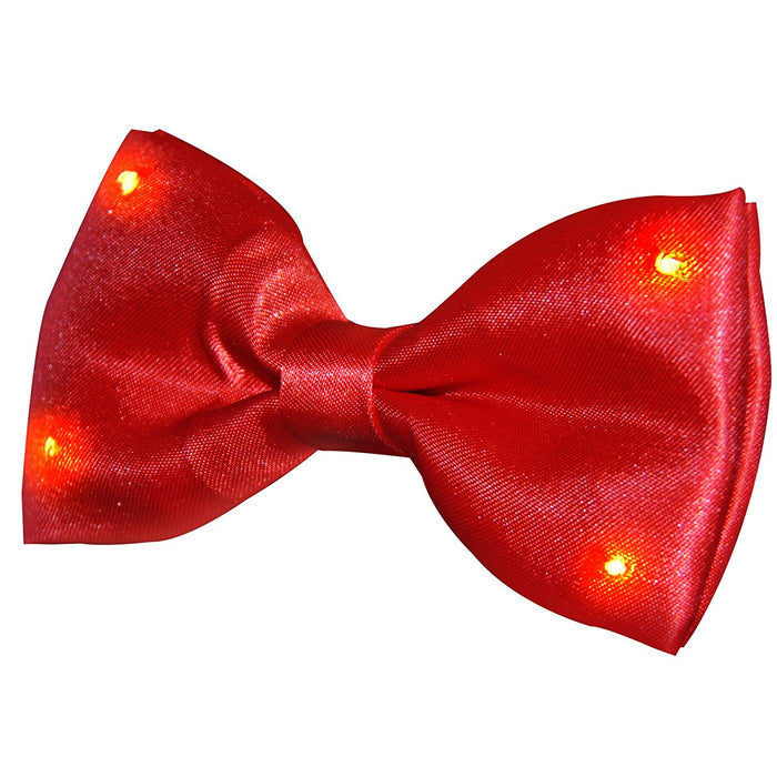 Red Bow Tie With Red LED Lights