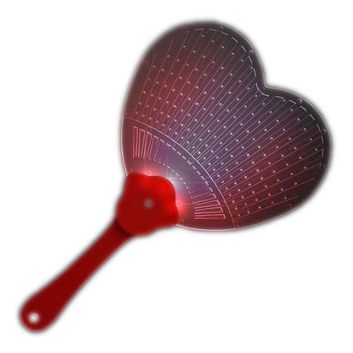 Heart Shaped LED Hand Fan