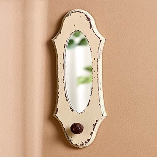 Vintage Wall Hook Mirrors Ivory