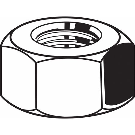 "1/4""-28 Grade 5 Zinc Plated Finish Carbon Steel Hex Nuts, 100 pk."