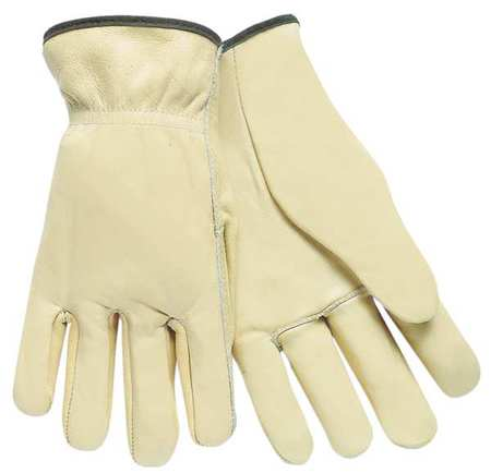 Driver Gloves, Cow Grain Lthr, Cream, XS, PR