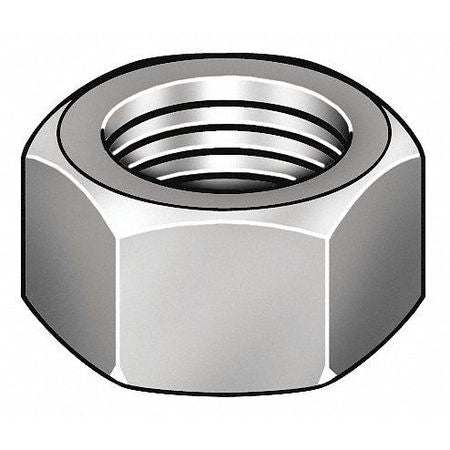 #2-64 Zinc Plated Finish Carbon Steel Machine Screw Hex Nuts, 100 pk.