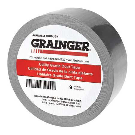 Duct Tape, Silver, Rubber, 24mm W, PK24