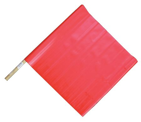 Handheld Warning Flag, Red, 18 x 18 In