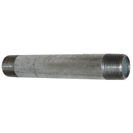 "1/2"" MNPT x 2-1/2"" TBE Galvanized Steel Pipe Nipple Sch 40"